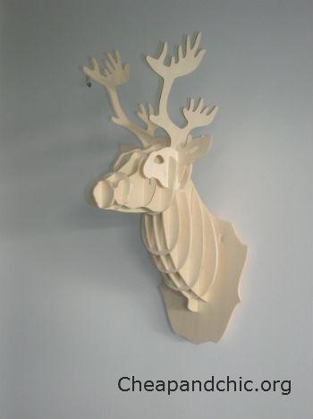Cabeza de ciervo antes de customizar