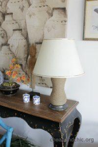 Modernizar una lámpara vintage con cuerda de yute